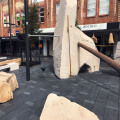 urban playground stone blocks